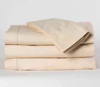 Martex Millennium T-250 Fitted Bed Sheets, Staybright Bone,  60% Cotton/40% Polyester