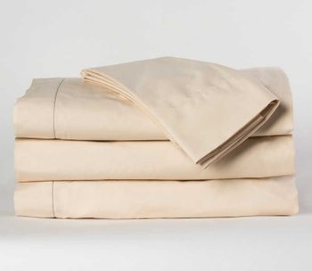 Martex Millennium T-300 Hotel Fitted Sheets, Staybright Bone, 60% Cotton/40% Polyester