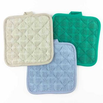 """Martex Pot Holders - 7""""x7"""" - Solid Colors, 100% Ring-Spun Cotton, Staybright Fade Resistant Technology"""