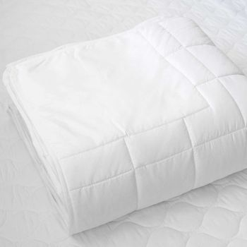Martex Ultra Touch FLEX Down-Alternative Blankets - White, No Batted Corners for Triple Sheeting