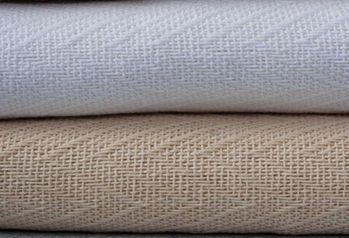 Oxford 100% Cotton Herringbone Blankets - Light-Weight Warmth