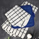 """Oxford Super Blend Dish Cloths - 12""""x12"""" - Solid Colors & Check Patterns, 100% Ring-Spun Cotton Terry Cloth, Vat Dyed"""