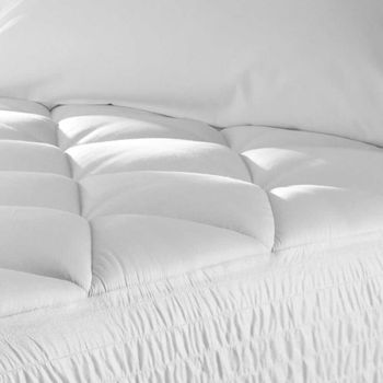 """Wholesale Mattress Topper Pads, Quilted 24 oz/sq yd. Eco-Fiber Fill & 20"""" Fitted Skirt"""