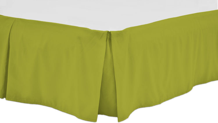 Green Bed Skirt Queen.Queen Bed Skirts 15 Smooth Drop Center Pleates