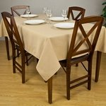 Banquet Solid Color Tablecloths - Premier 7.2 oz Spun Polyester Fabric