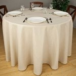 Round Solid Color Tablecloths - Premier 7.2 oz Spun Polyester Fabric