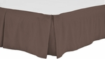 "Twin Bed Skirts - 15"" Smooth Drop, Center Pleates"