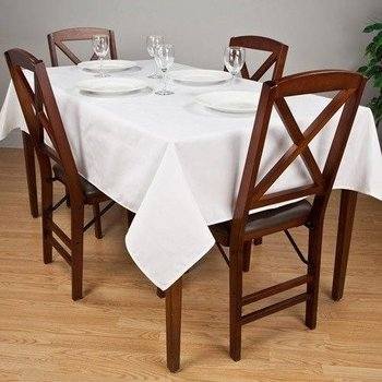 Banquet White Tablecloths - Premier 7.2 oz Spun Polyester Fabric