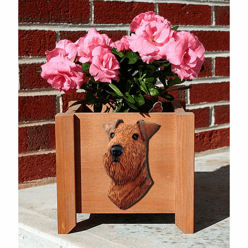 Adult Airedale Planter Box