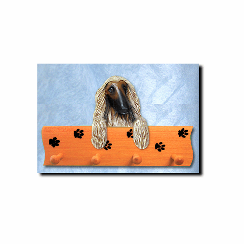 Afghan Hound Dog Four-Peg Hang Up