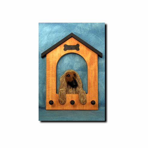 Afghan Hound Dog House Leash Holder
