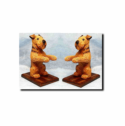 Airedale Terrier Bookends