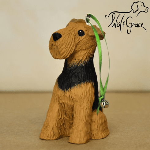 Airedale Terrier 3-Dimenional Christmas Ornament