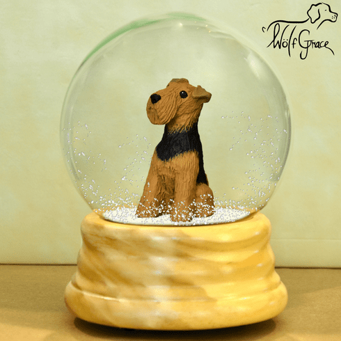 Airedale Terrier Snow Globe