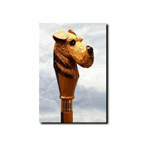 Airedale Terrier Walking Stick, Hiking Staff