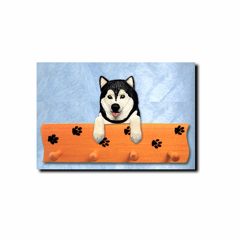 Alaskan Malamute Dog Four-Peg Hang Up