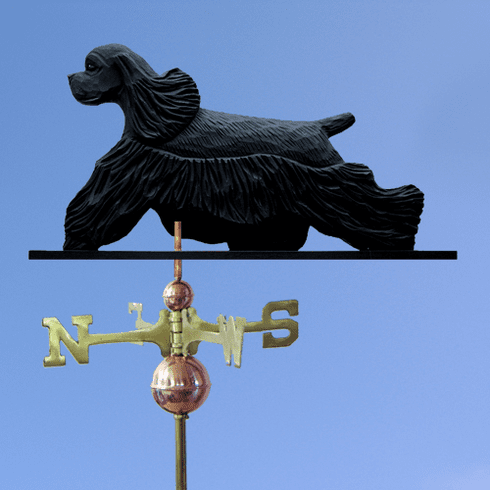 Am. Cocker Spaniel Weathervane-Black
