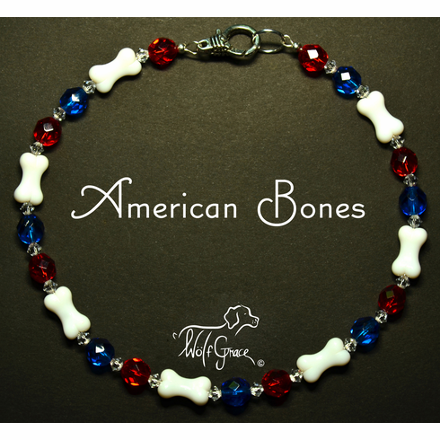 <b>American Bones Necklace for Dogs <br>(Matching Human Necklace Available!)</b>