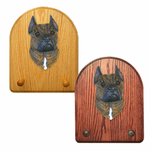American Staffordshire Terrier Key Rack-Brindle