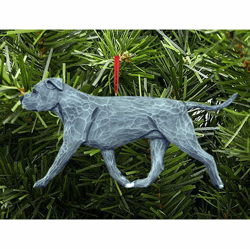 American Staffordshire Terrier (natural) Christmas Ornament