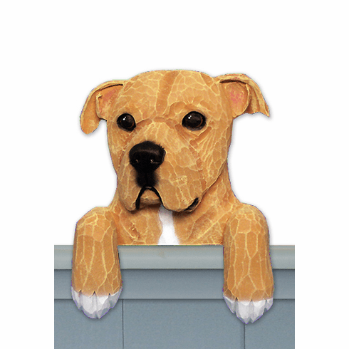 American Staffordshire Terrier Natural Door Topper
