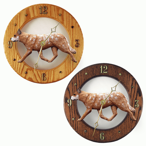Australian Cattle Dog Wall Clock-Red