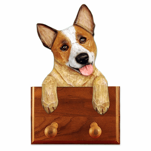 Australian Cattle Dog Walnut Dog Leash Holder