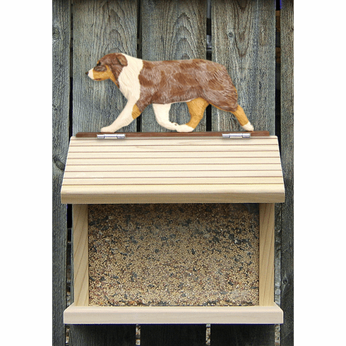 Australian Shepherd Bird Feeder-Red Merle
