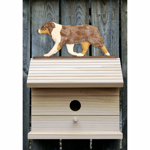 Australian Shepherd Bird House-Red Merle