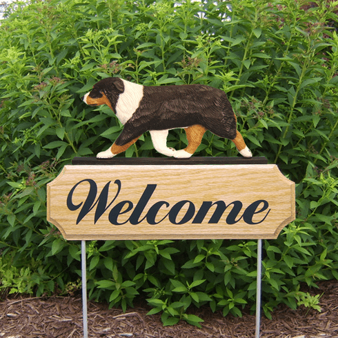 Australian Shepherd DIG Welcome Stake-Black Tri