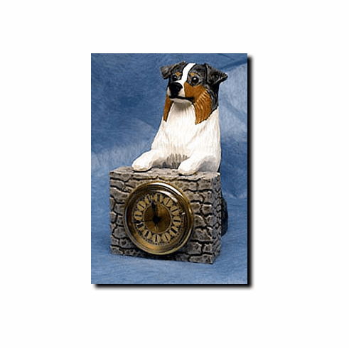 Australian Shepherd Mantle Clock