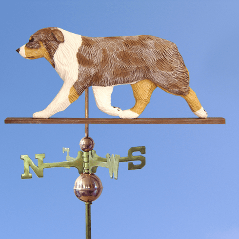 Australian Shepherd Weathervane-Red Merle