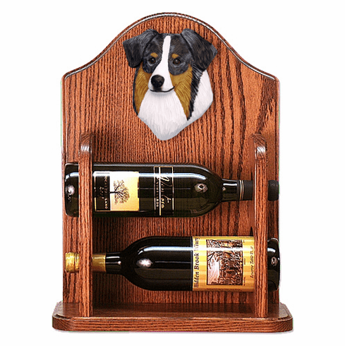 Australian Shepherd Wine Rack-Blue Merle