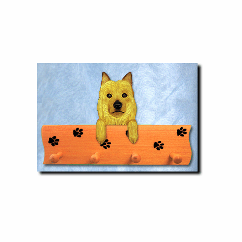 Australian Terrier Dog Four-Peg Hang Up