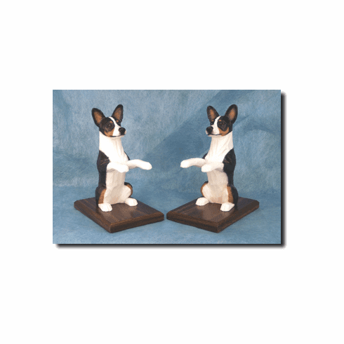 Basenji Bookends