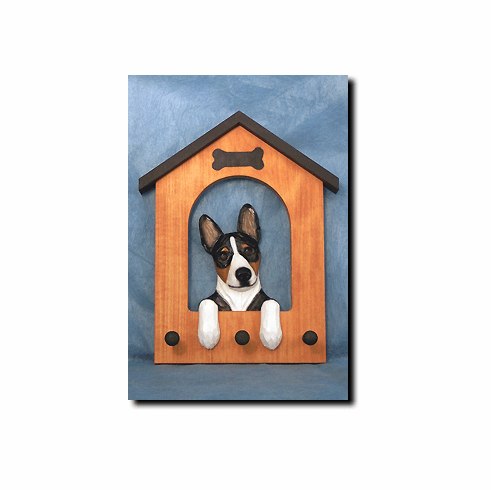 Basenji Dog House Leash Holder