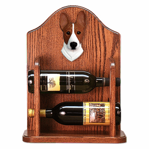Basenji Wine Rack -Red/White