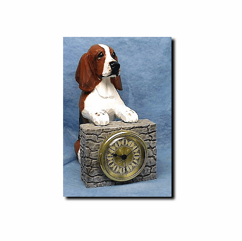 Basset Hound Mantle Clock