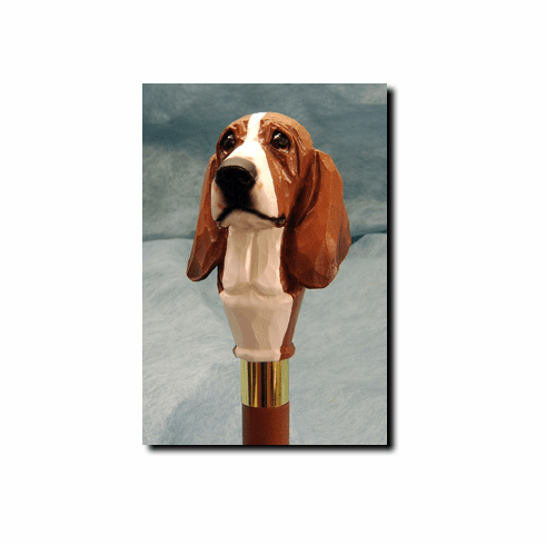 Basset Hound Walking Stick, Hiking Staff