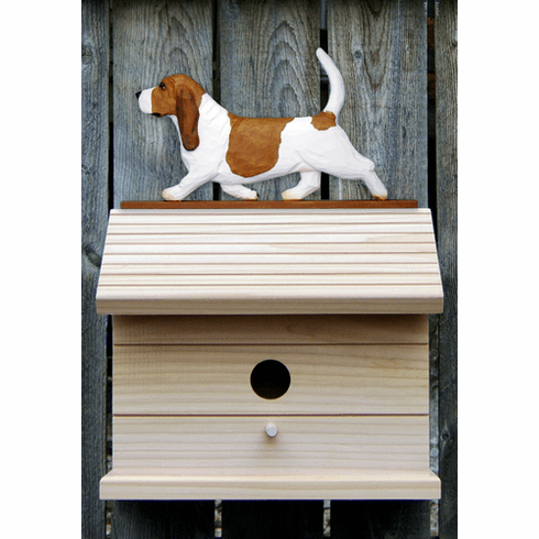 Beagle Bird House-Red/White