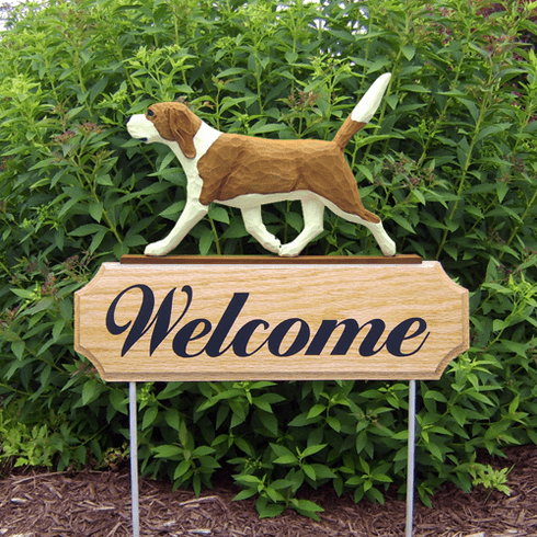 Beagle DIG Welcome Stake-Red/White