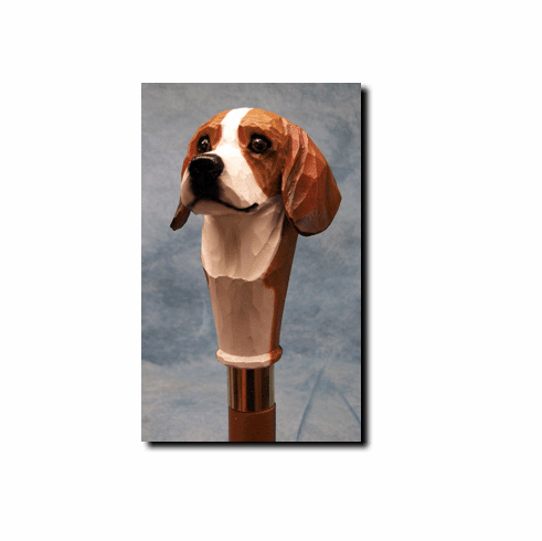 Beagle Walking Stick, Hiking Staff