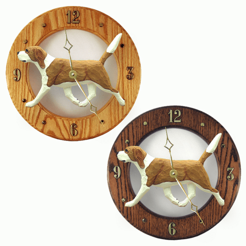 Beagle Wall Clock-Red-White