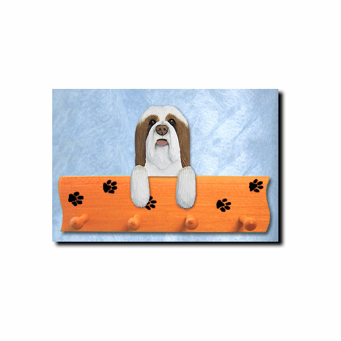 Bearded Collie Dog Four-Peg Hang Up