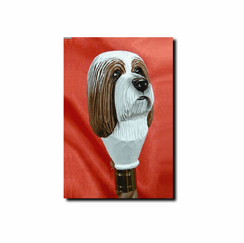 Bearded Collie Walking Stick, Hiking Staff