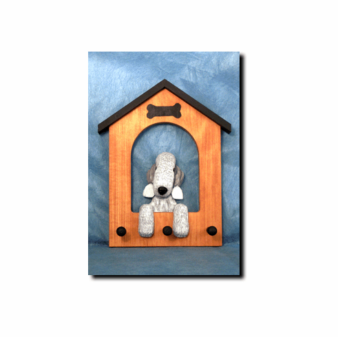 Bedlington Terrier Dog House Leash Holder