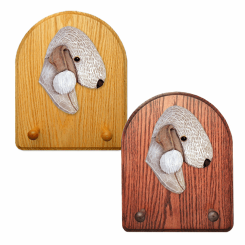 Bedlington Terrier Key Rack-Liver
