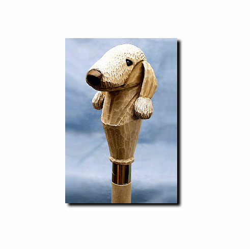 Bedlington Terrier Walking Stick / Hiking Staff