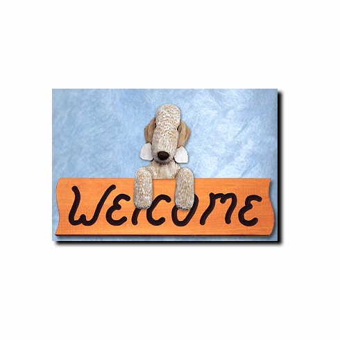 Bedlington Terrier Welcome Sign