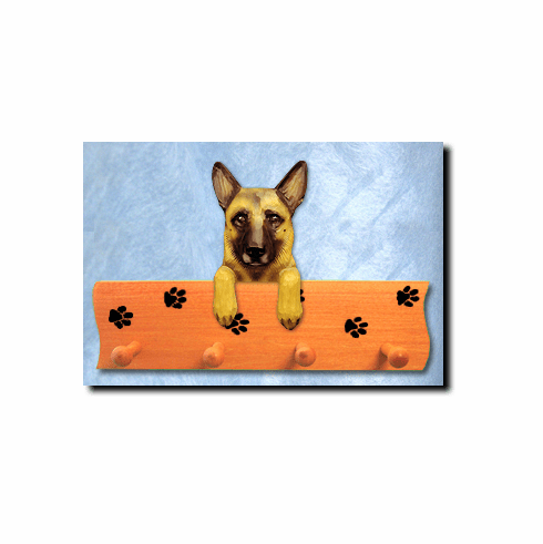 Belgian Malinois Dog Four-Peg Hang Up